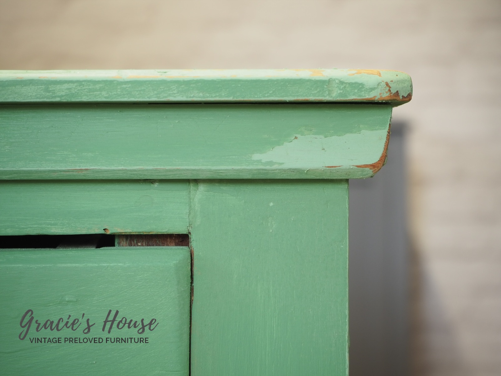 Vintage green Painted drawers